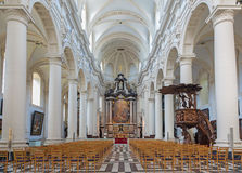 Bruges - Interioro of Saint Walburga church. Stock Photos