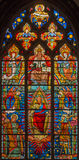 Bruges - Jesus Christ from windowpane (19. cent.) in st. Giles (Sint Gilliskerk). Stock Photography