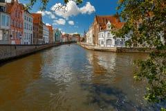 Bruges Kanałowy Spiegel Reja Zdjęcia Royalty Free