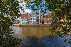 Bruges Kanałowy Spiegel Reja Fotografia Royalty Free