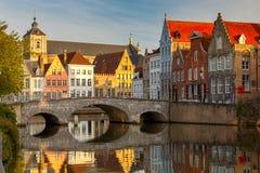 Bruges Kanałowy Spiegel Reja Zdjęcie Stock