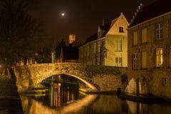Bruges kanal  Royaltyfri Foto