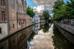 Bruges kanal Royaltyfria Bilder
