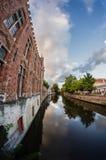Bruges kanal Royaltyfri Bild