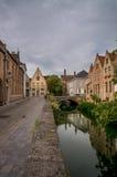Bruges kanal Fotografering för Bildbyråer