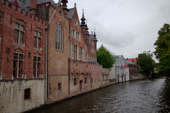 Bruges kanal Arkivfoto