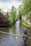 Bruges kanal Belgien Royaltyfria Foton