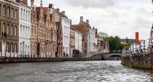 Bruges kanal Belgien Fotografering för Bildbyråer