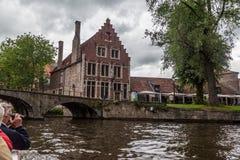 Bruges kanal Belgien Royaltyfri Foto