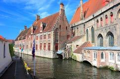 bruges kanal Belgien Europa fotografering för bildbyråer