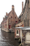 Bruges kanalhus Royaltyfria Bilder