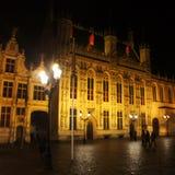 Bruges la nuit Photographie stock