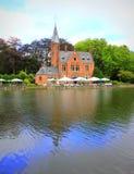 Bruges lake castle Belgium Royalty Free Stock Photography