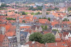 Bruges landmarks Royalty Free Stock Images