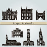 Bruges Landmarks Royalty Free Stock Image