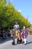 Bruges, lo spettacolo dell'albero dorato Fotografia Stock Libera da Diritti