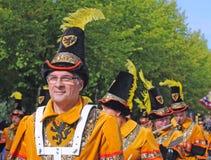 Bruges, lo spettacolo dell'albero dorato Immagini Stock