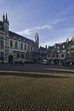 Bruges market square, Belgium Royalty Free Stock Photo