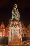 Bruges Markt Belgium Stock Image