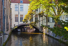 Bruges, medieval city in Belgium Royalty Free Stock Images
