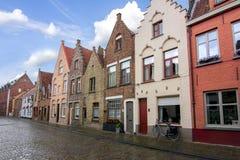 Bruges medieval streets, Belgium stock image