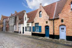Bruges medieval streets, Belgium stock photography