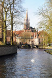 Bruges Minnewater Royalty Free Stock Photo