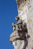 Bruges - The modern statue of Madonna on the edge of house. Royalty Free Stock Photo