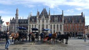 Bruges na manhã Fotos de Stock
