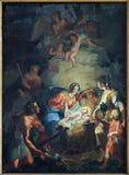 Bruges - The Nativity scene by Mathias De Visch (1701-1765) from st. Jocobs church (Jakobskerk). Stock Photo