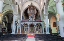 Bruges - The nave of st. Jacobs church (Jakobskerk). Stock Photo