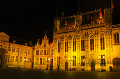 Bruges by night Royalty Free Stock Photography