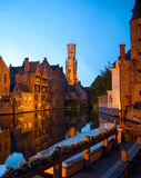 Bruges at night, Belgium Royalty Free Stock Photography