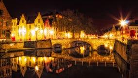 Bruges at Night royalty free stock photos