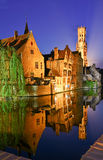 Bruges at night Stock Image