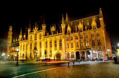 Bruges at night Stock Photo