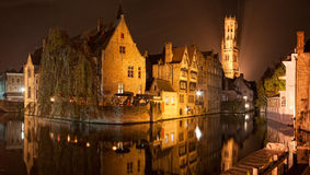Bruges by night. A night scene in Bruges, Belgium Stock Photography