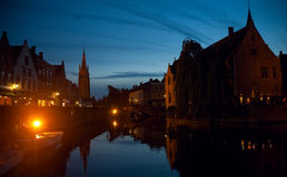 Bruges at night Royalty Free Stock Image