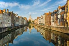 Bruges no amanhecer imagem de stock royalty free