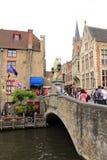 Bruges  old bridge Belgium Stock Photography