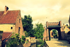 Bruges Old city view Belgium Stock Image