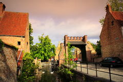 Bruges Old city view Belgium Royalty Free Stock Images