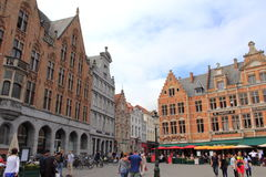 Bruges old square Belgium Royalty Free Stock Photography