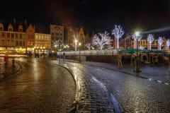 Bruges på jul Arkivbilder