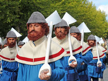 Bruges pageanten av den guld- treen Arkivfoto