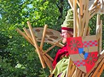 Bruges pageanten av den guld- treen Arkivfoton