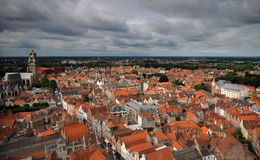 bruges panorama Obrazy Royalty Free