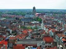Bruges - panorama från Belfort Royaltyfria Bilder