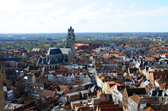 Bruges panorama view Royalty Free Stock Photo