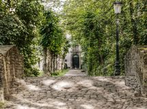 Bruges, Park, Avenue, Stone Bridge Royalty Free Stock Images